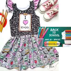 I Love School Panel Dress