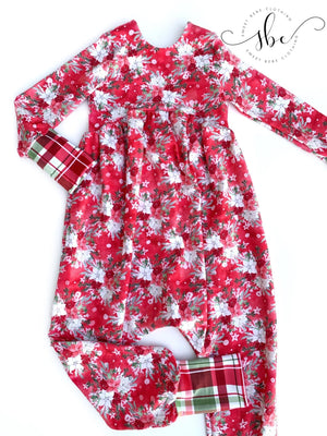 Holiday Florals - Romper Pants Length