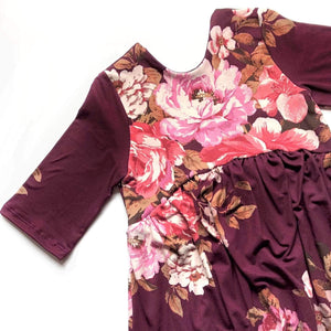 Autumn Dreams Floral - Romper Bubble Length