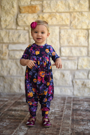 Green Bebe - Romper Pants Length - Pink Toss