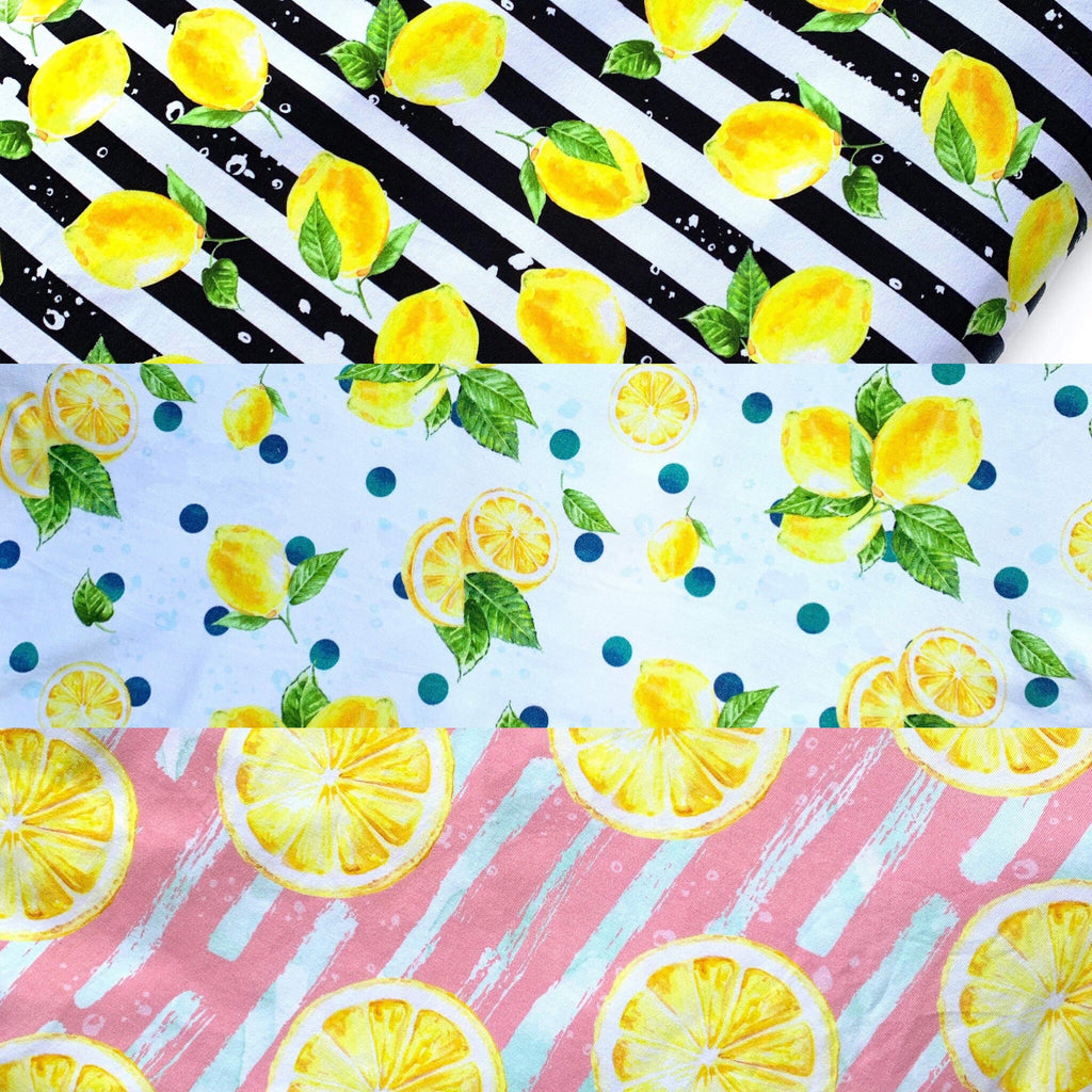 Sunday Lemonade Accent Fabric - Bummies add on