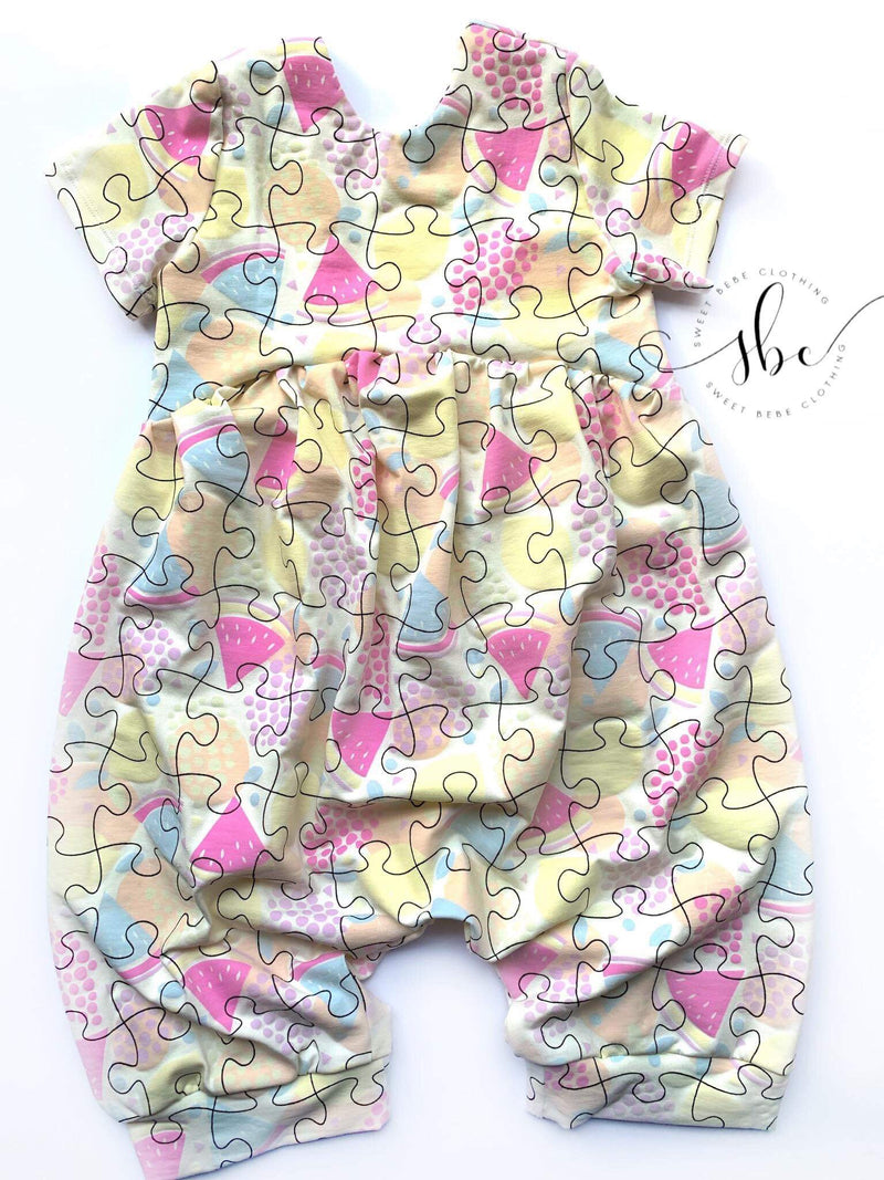 Puzzle Romper - Pants Length