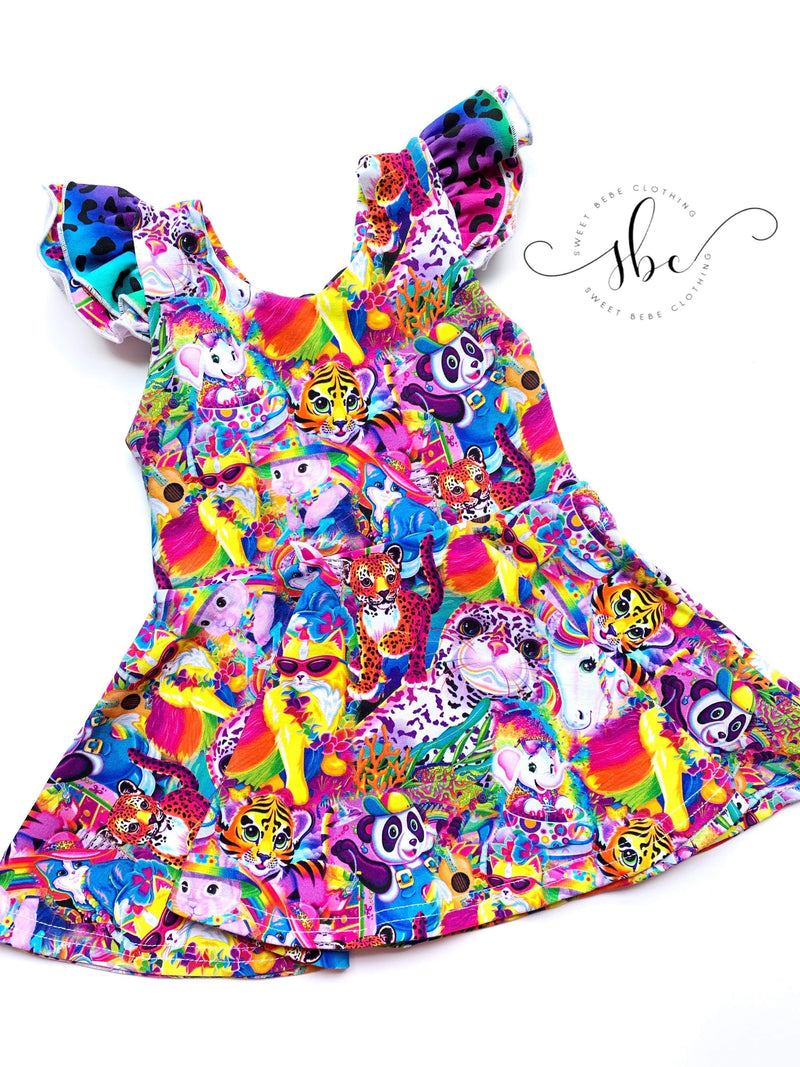 Party Animals Bow Back Dress with accent fabric