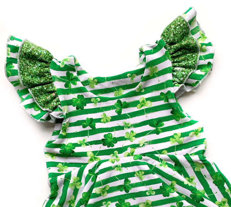 Lucky Clovers - Romper Shorts Length