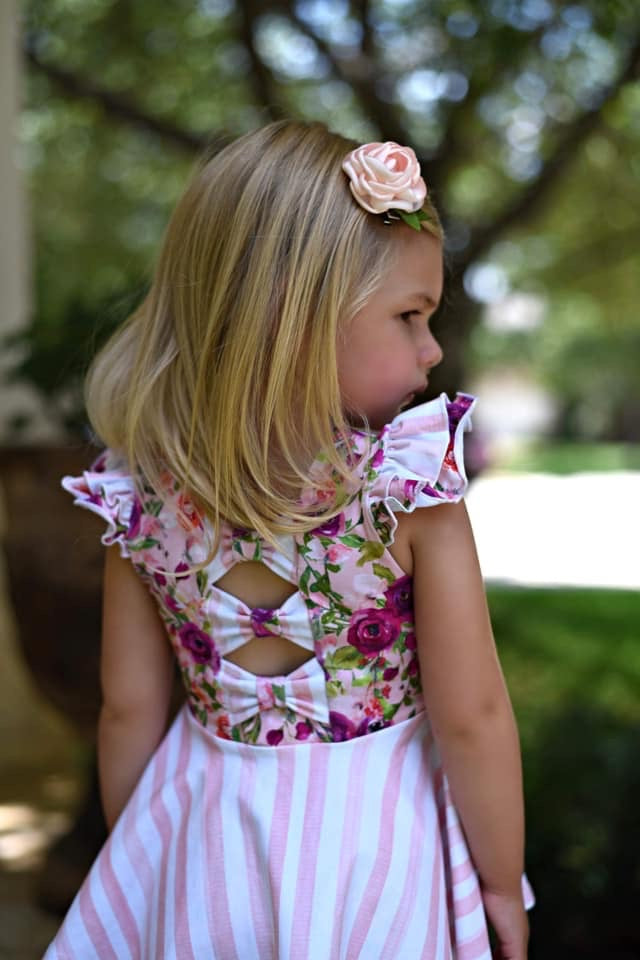 *Spring Blooms - Add Custom Bow Back Option to SBC Dress/Tunic