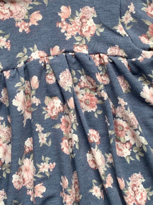 Blue Fall Floral - SBC Tunic