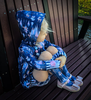 Say Cheers Friends Blue - SBC Bubble Tunic With Hood