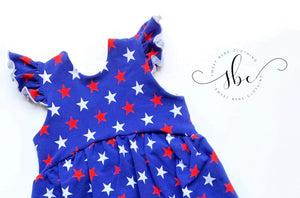RWB Stars - Bow Back Tunic Length