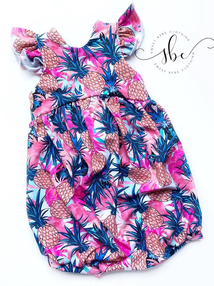 Pineapple Summer - Bow Back Dress Length