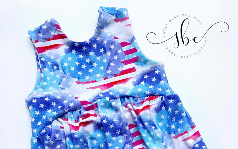 RWB Liberty - Bow Back Tunic Length
