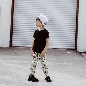 Brooklyn Fifth Brooklyn + Fifth City Camo Collection!  City Style meets Edgy Camo, you can't go wrong...especially when it's combined with the quality and comfort Brooklyn + Fifth is known for. Featuring 3 distinct color combinations, we've got a Camo for everyone!  Camo Joggers Pants Toddler Baby