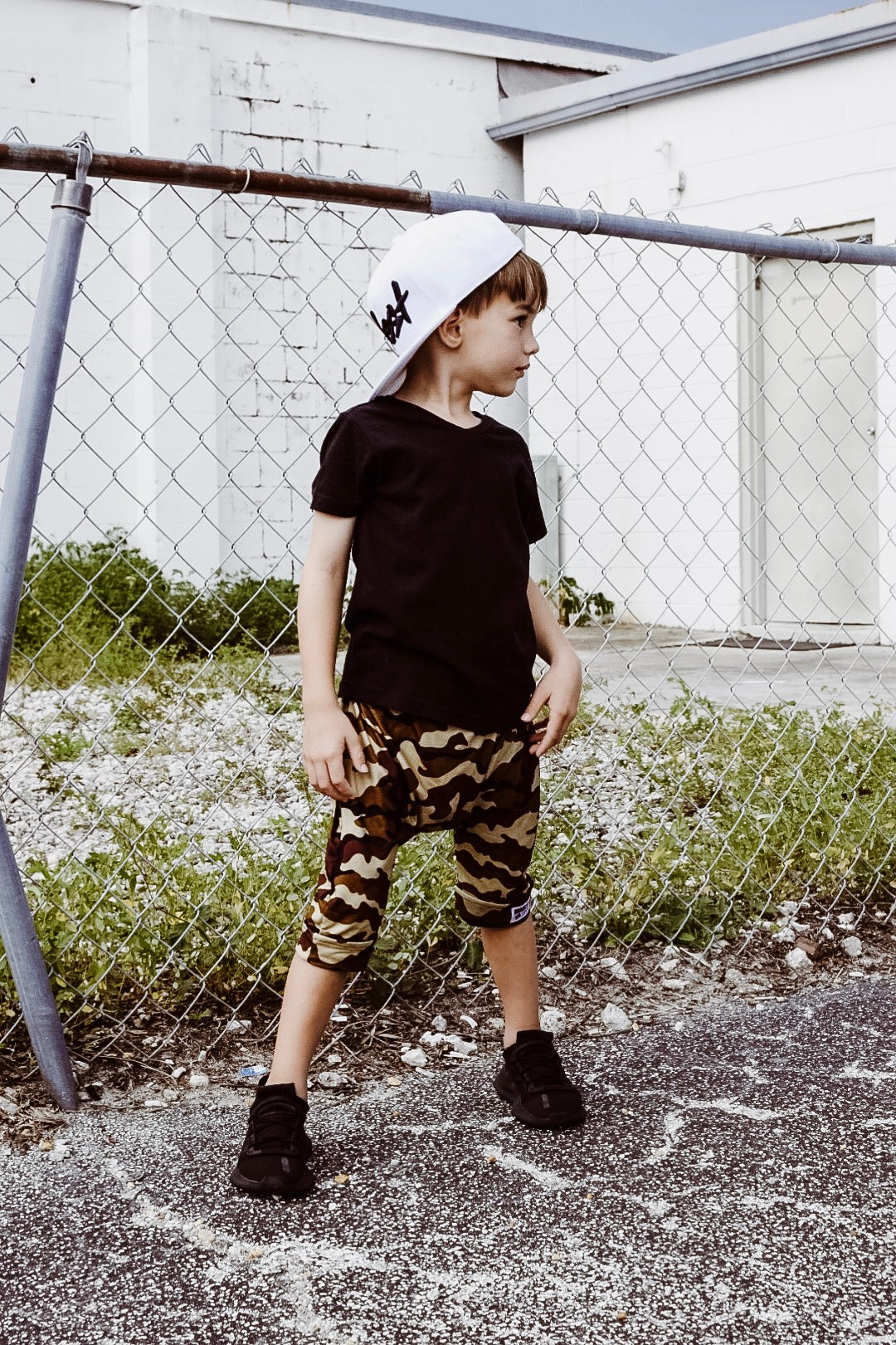 Brooklyn + Fifth City Camo Collection!  City Style meets Edgy Camo, you can't go wrong...especially when it's combined with the quality and comfort Brooklyn + Fifth is known for. Featuring 3 distinct color combinations, we've got a Camo for everyone!  Camo Harem Shorts Toddler BabyCamo Shorts Toddler Baby Boy Brooklyn Fifth