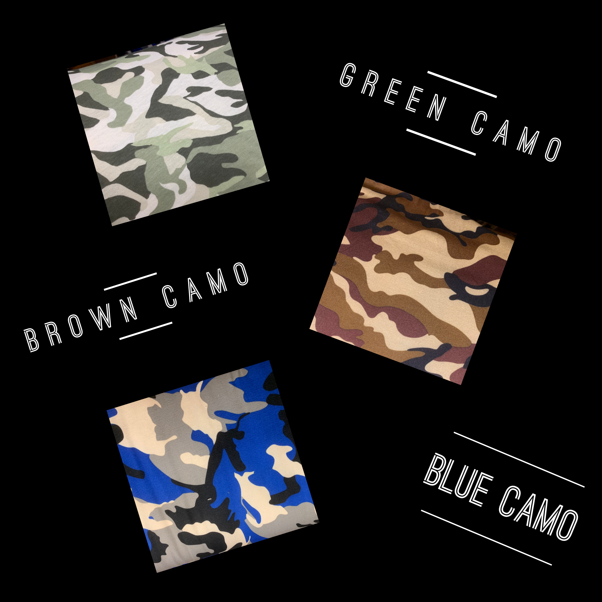 City Camo Collection Pants- 3 Colors Available!