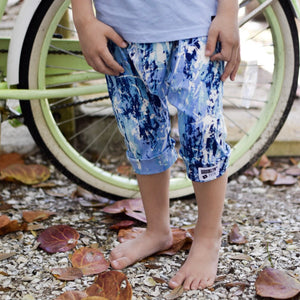 Brooklyn + Fifth Tie Dye = Brooklyn+Fifth Summer Vibes all the way!  Brooklyn + Fifth Harem Shorts trendy, summer kids shorts, toddler shorts, infant shorts, elastic waistband shorts, comfy summer shorts.
