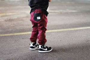 Burgundy City Comfort Toddler Joggers