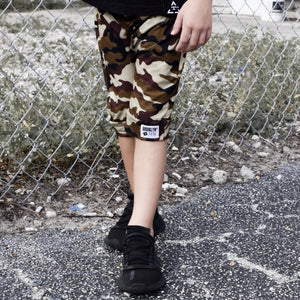 Brooklyn + Fifth City Camo Collection!  City Style meets Edgy Camo, you can't go wrong...especially when it's combined with the quality and comfort Brooklyn + Fifth is known for. Featuring 3 distinct color combinations, we've got a Camo for everyone!  Camo Harem Shorts Toddler Baby