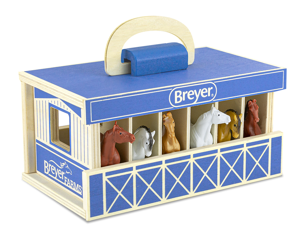 Breyer Stablemates Farms Wooden Carry Case