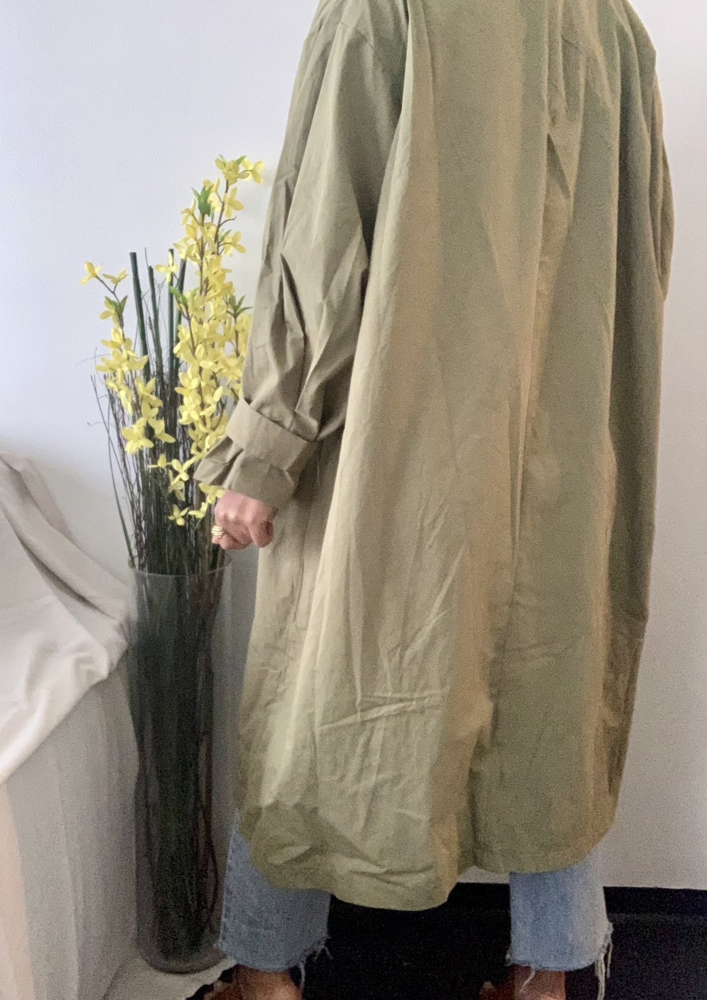 Olive Lightweight Trench Coat