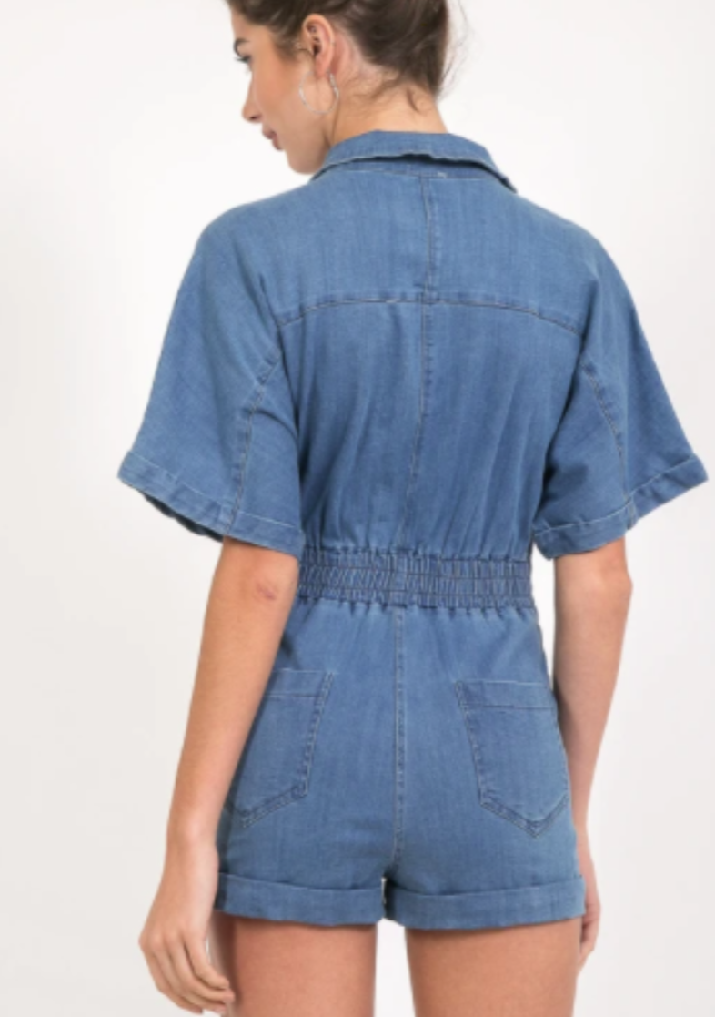 Denim 70s Cool Romper