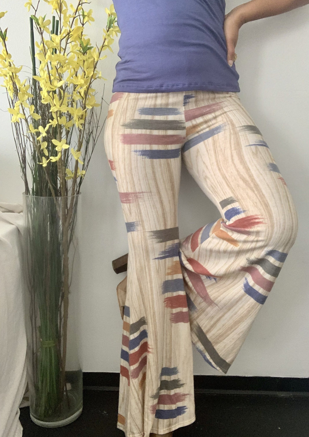 Brush Stroke Knit Pants