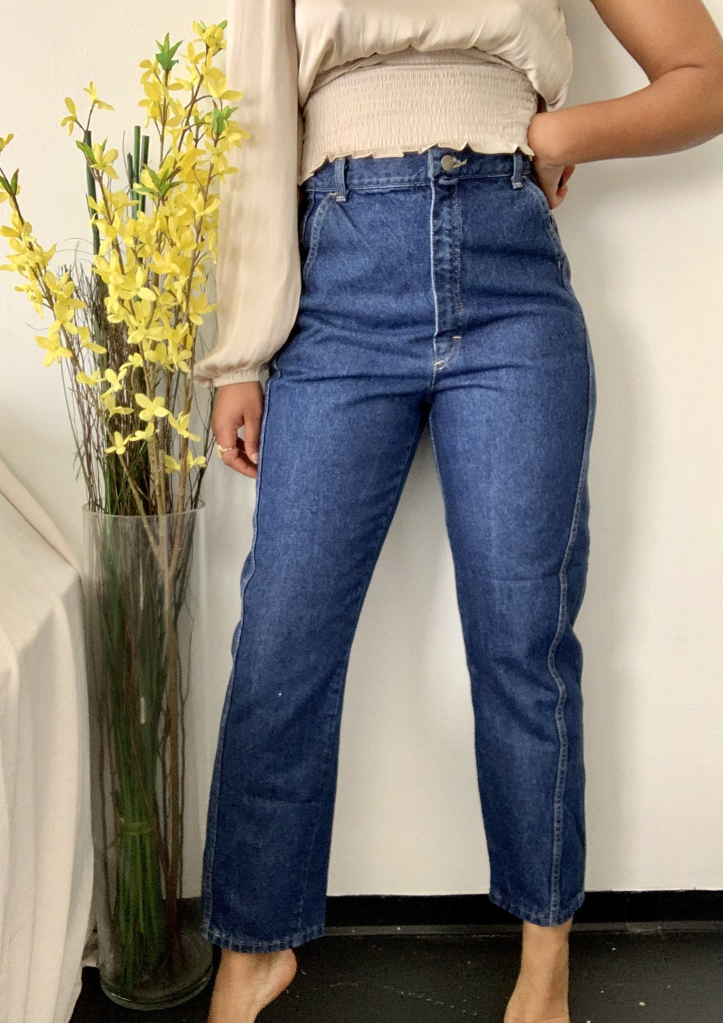Vintage True Blue Trouser Denim