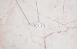 Whale Silver Origami Geometric Necklace