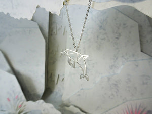 Dolphin Silver Organic Animal Necklace