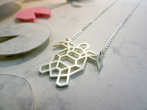 Turtle Silver Origami Necklace