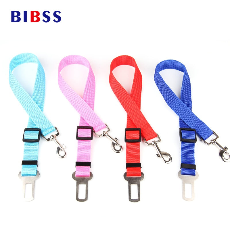 Pet Car Safety Belt Nylon Pets Dog Cat Seat Lead Leash Harness for Puppy Kitten Vehicle Security Leash 65cm Adjustable