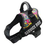 Dog Harness Service Dog K9 Reflective Harness Adjustable Nylon Collar Vest for Small Large Dogs Walking Running Pets Supplies
