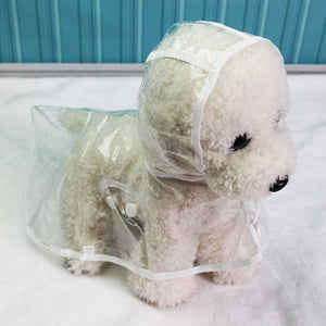 Waterproof Transparent Raincoats XS-XL Dog Raincoat Spring Summer Rain Coats Dog Light Clothes Pet Accessories Puppy Rain Jacket