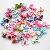 20PCS Cute Dog Hair Bows for Puppy Yorkshirk Small Dogs Hair Accessories Grooming Bows for Party Holiday Wedding Pet Supplies