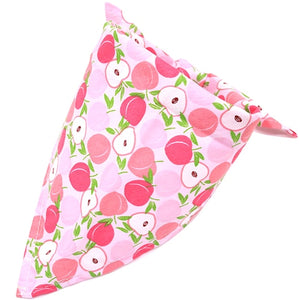 1 Pcs Dog Bandana Fruit Print Pet Dog Scarf Adjustable Size Dog Cat Bow Tie Pet Grooming Accessories Personalized Dog Bandana
