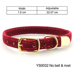Cat Collar for Small Dogs Puppies Flocking Cat Puppies Collar Pet Supplies Product Adjustable for Kitten Pet Cats Collars YS0032