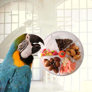 2020 Parrot Brain Game Toy Funny Parrot Roller Feeder Device Toys Wheels Cake Modeling Design Food Box Hot Sale