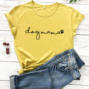 dog mama cut paw print funny t shirt funny dog mom shirt new arrival women t shirt pet lover tee gift for pet lover