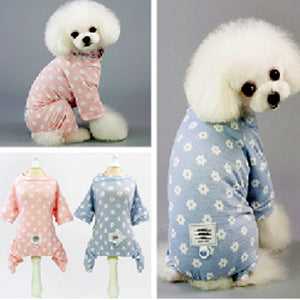 New Dog Clothes Pet Four-legged Trousers Pure Cotton Leisure Lovely Shirt Dog Little Daisy Clothes Comfortable in Spring/Summer