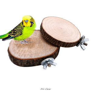 Parrot Pet Bird Chew Toy Wooden Hanging Swing Birdcage Parakeet Cockatiel Cages Drop shipping