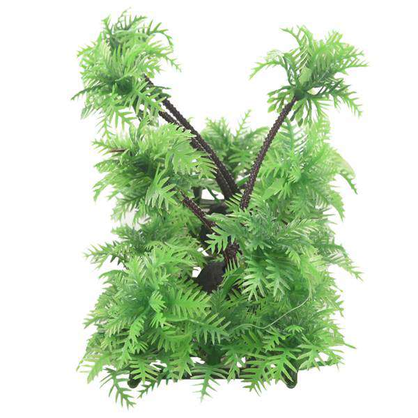 3.9 inch Height Artificial Coconut Palm Plant for Aquarium Fish Tank Green