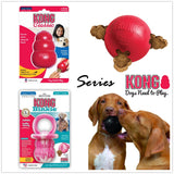 KONG Dog Toys For Any Stages and Shapes For Dog Tooth Clean Ball Of Food Extra-tough Rubber Ball Rubber Gourd