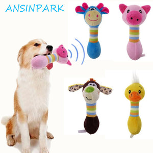 ANSINPARK pet plush dog toys cute pet dog chew toys animals will dog cat puppy toy toot squirrel dog chew squeak M888