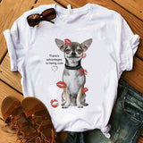There's Advantages to Being Cute T Shirt Women Chihuahua lover print TShirt funny dog design lovely girl t-shirt tee shirt