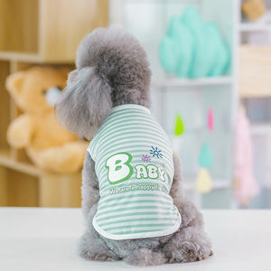 Lovely Stripe Pet Dog Clothes for Small Dogs Summer Dog Clothing Coat Soft Dog Shirt Chihuahua Clothes for Cat Service Dog Vest