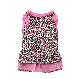 Leopard Pattern Printed Pup Dog Cat Shirt Dress Clothes Pet Costumes Lovely Cute Dog Dot Dresses