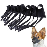 Pet Nylon Adjustable Mask Bark Bite Soft Mouth Muzzle Grooming Anti Stop Chewing For Small Large Dog Black