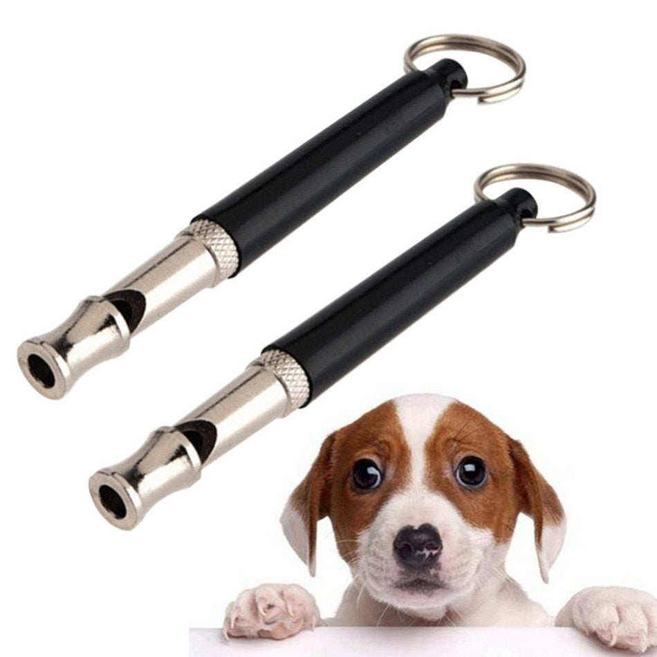 1Pcs Pet Dog Cat Training Obedience Black Whistle Ultrasonic Supersonic Sound Pitch Quiet Trainning Whistles Pets Supplies