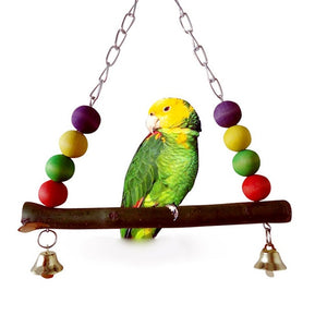 Bird Chew Toy Parrot Parakeet Budgie Cockatiel Cage Hammock Swing Toy Hanging Toy