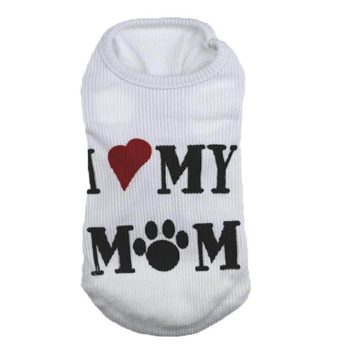 I LOVE MY MOM Dog Vest Cheap Summer Dress  Puppy Dog T-shirt Stripe Coat Teacup Chihuahua Clothes For Dogs Pet Products