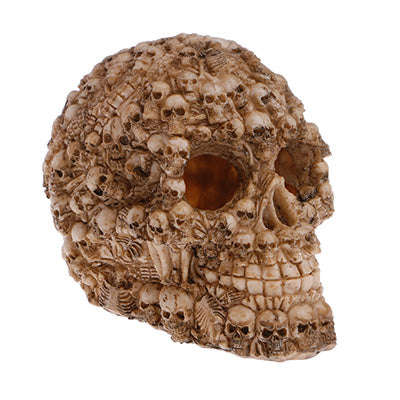 Resin Easter Island Head Bone Skull Statue Terrarium Reptile Hide Cave Aquarium Fish Tank Landscape Decor Ornament Accessories