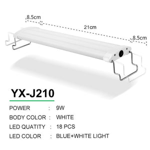 Aquarium LED Lighting 21-45cm High Quality Fish Tank Light Lamp With Extendable Brackets White And Blue LEDs Fits for Aquarium